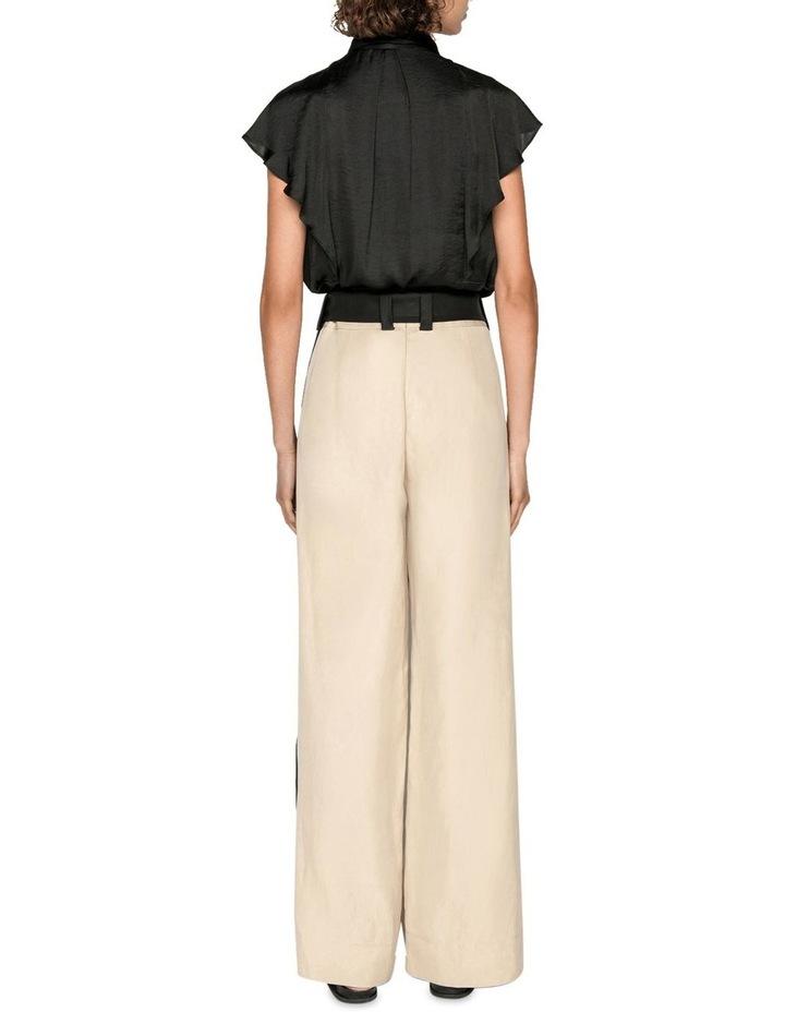 Sand Linen Blend Trouser image 3