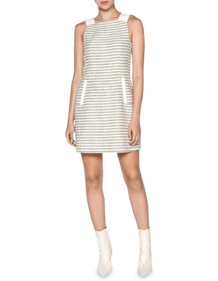 Cotton Boucle Stripe Shift Dress image 1