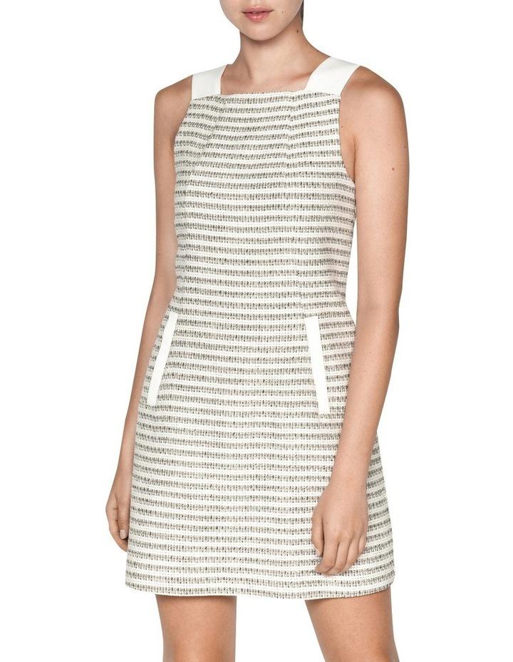 Cotton Boucle Stripe Shift Dress image 2