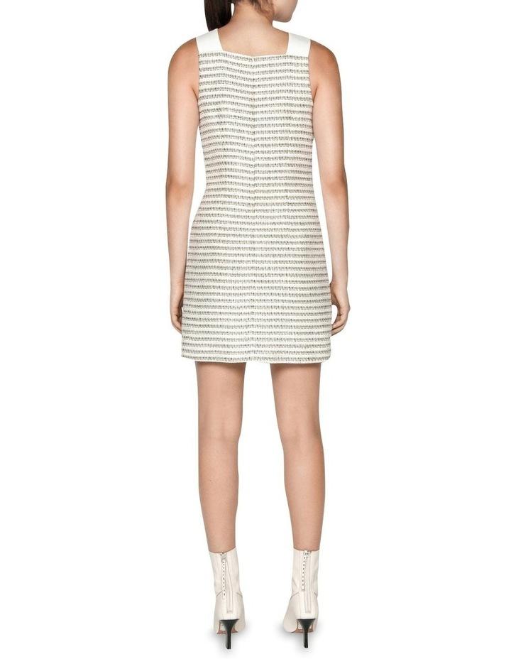 Cotton Boucle Stripe Shift Dress image 3