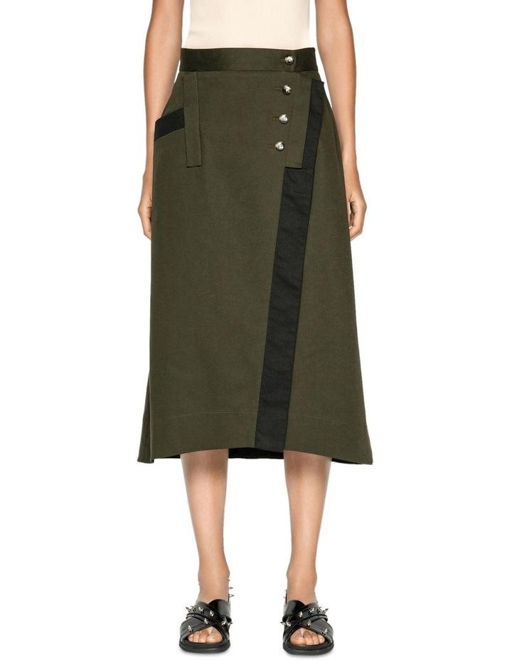 Wrap Front Midi Skirt image 2