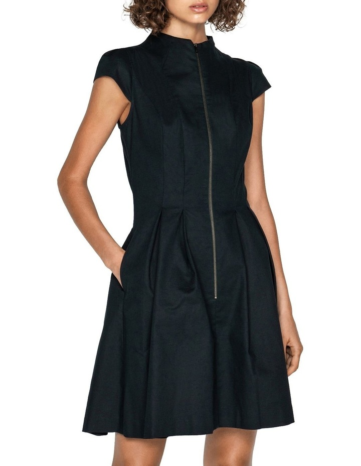 Ottoman Zip Front Dress image 2