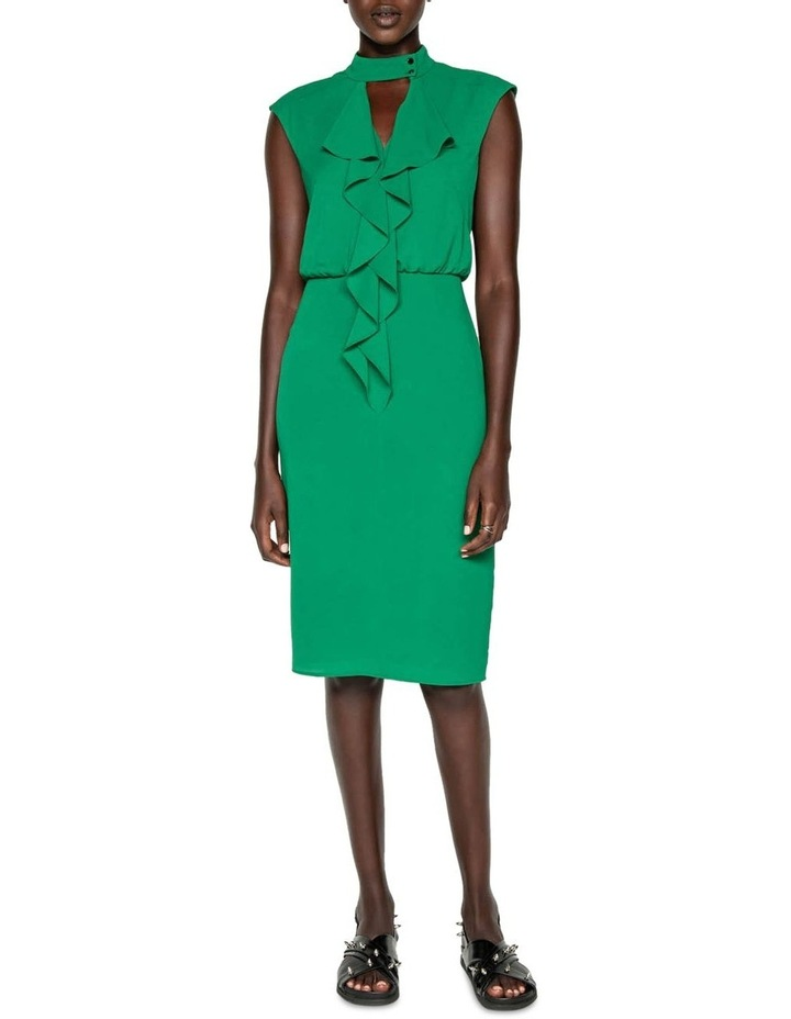 Crinkle Frilled Midi Dress image 1