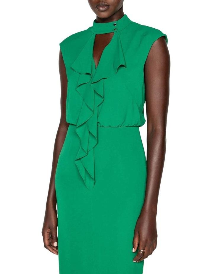Crinkle Frilled Midi Dress image 2