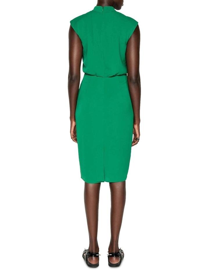 Crinkle Frilled Midi Dress image 3