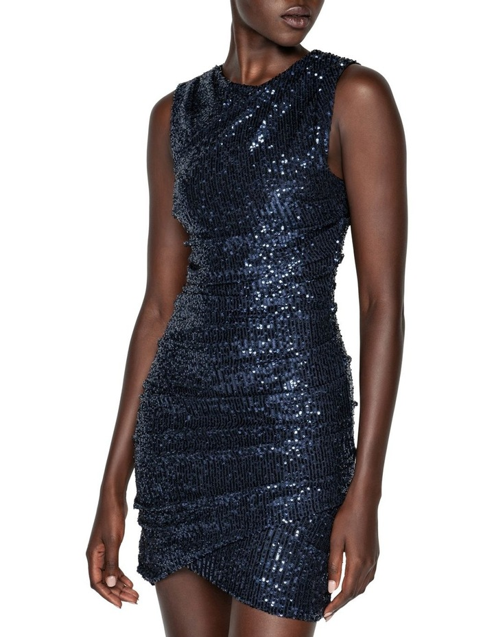 Ruched Sequin Mini Dress image 2