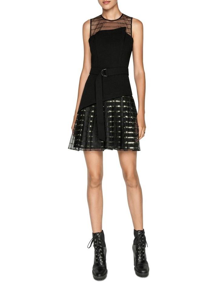 Sequin Stripe Asymmetric Dress image 1