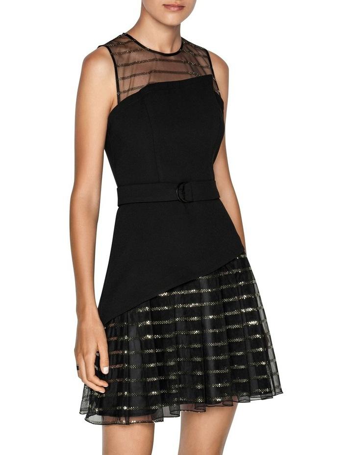 Sequin Stripe Asymmetric Dress image 2