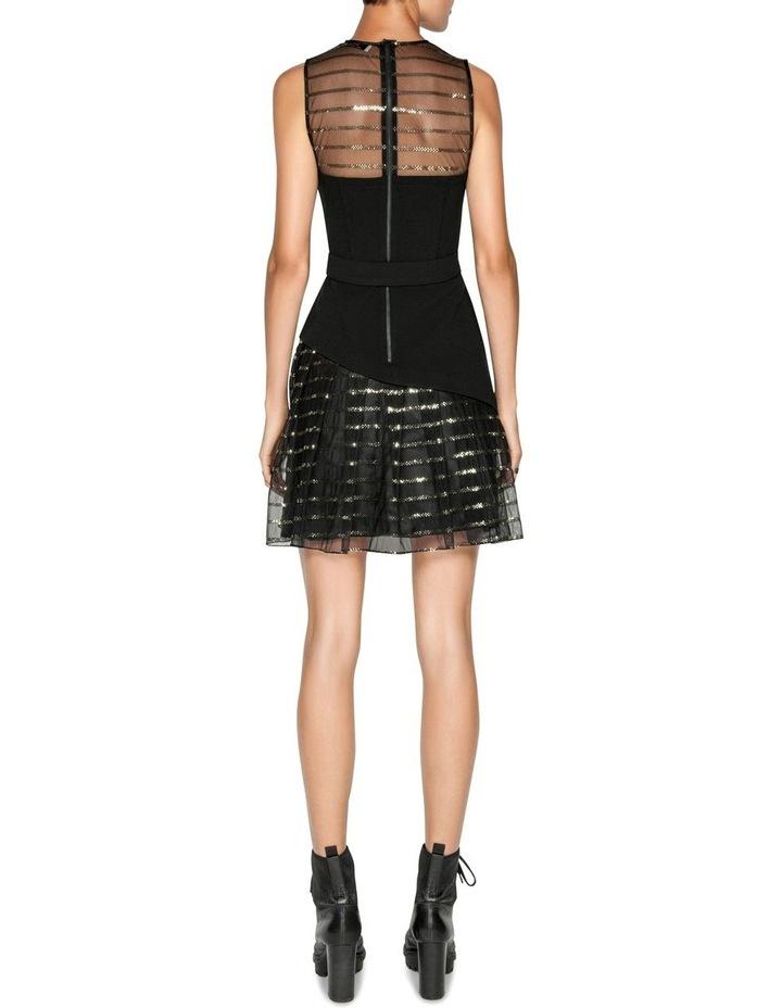 Sequin Stripe Asymmetric Dress image 3