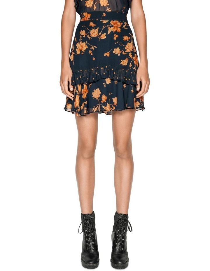 Golden Floral Frilled Mini Skirt image 2