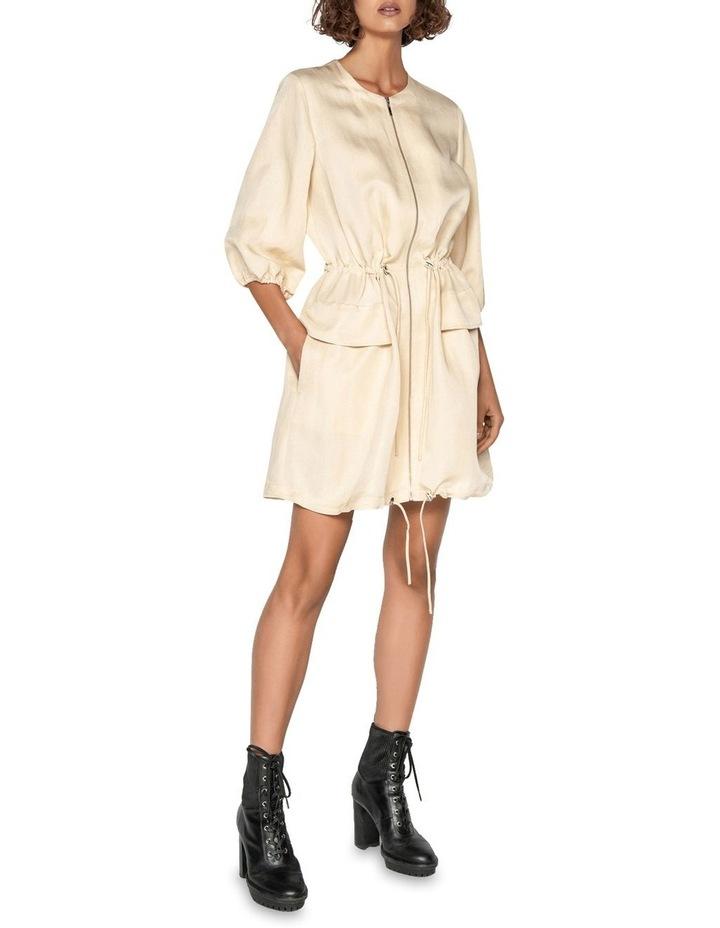 Linen Ruched Waist Dress image 1