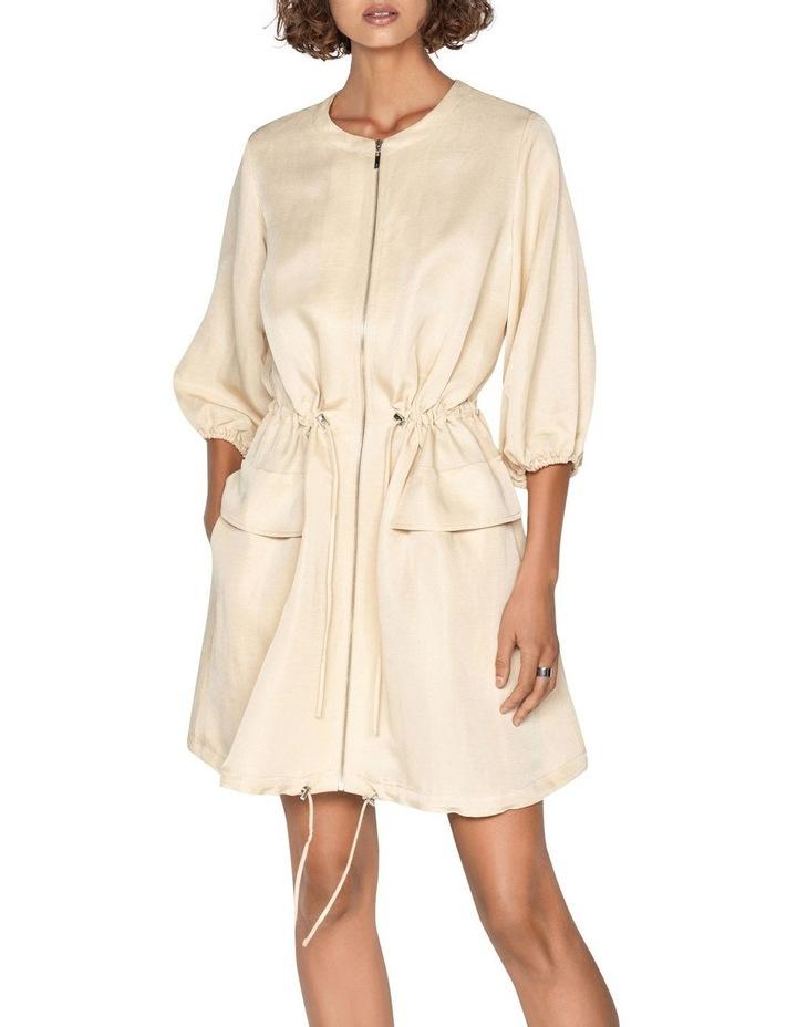 Linen Ruched Waist Dress image 2