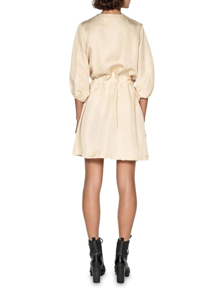 Linen Ruched Waist Dress image 3