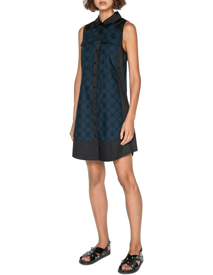 Stitched Broderie Shirt Dress image 1