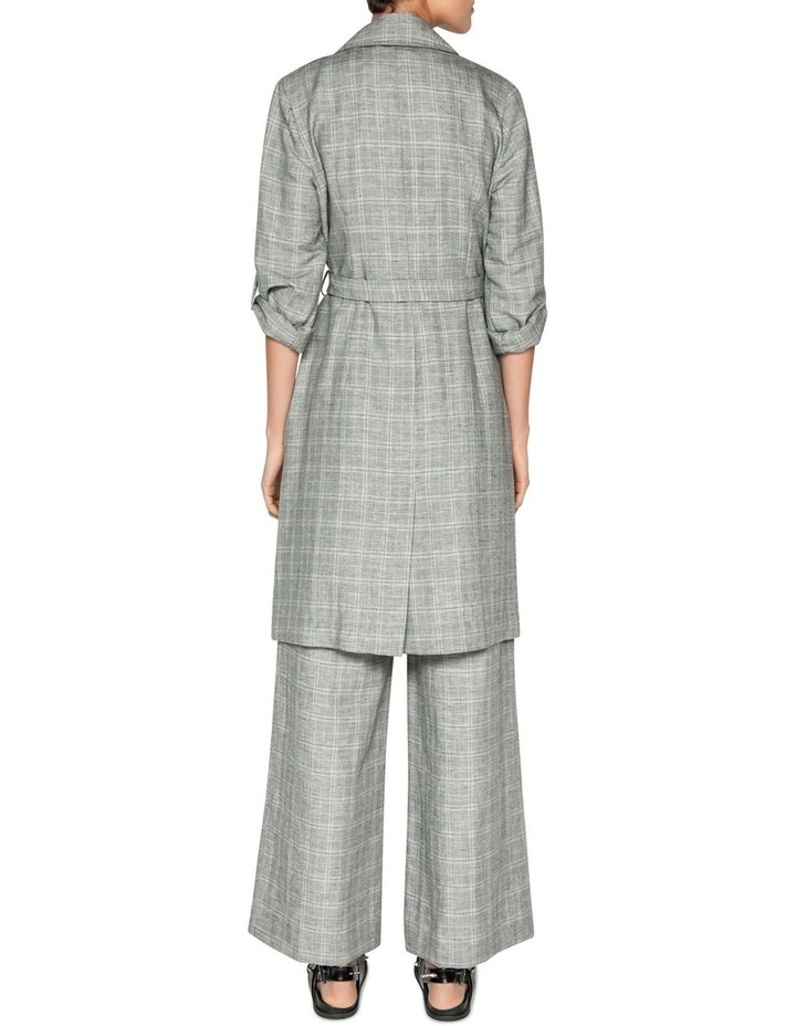 Linen Check Trench Jacket image 3