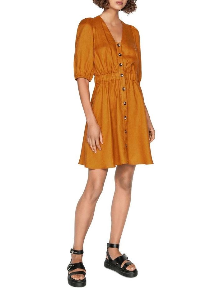 Linen Button Front Dress image 1