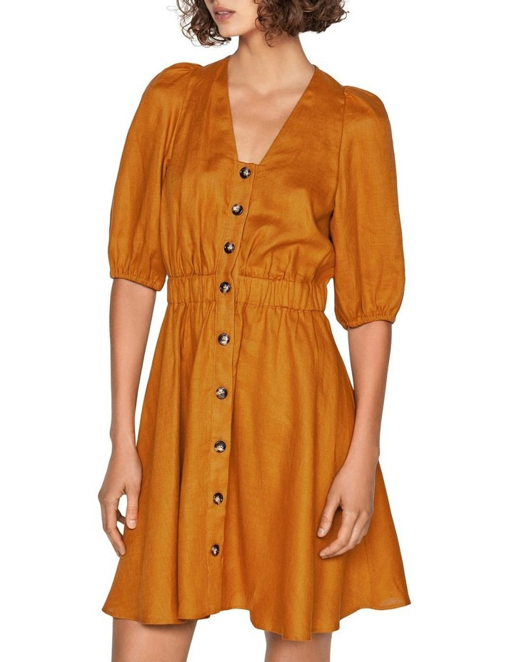 Linen Button Front Dress image 2