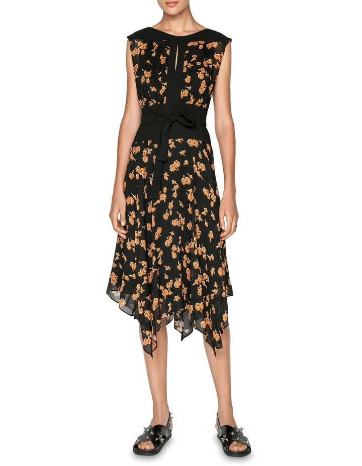 Rosette Viscose Midi Dress image 1
