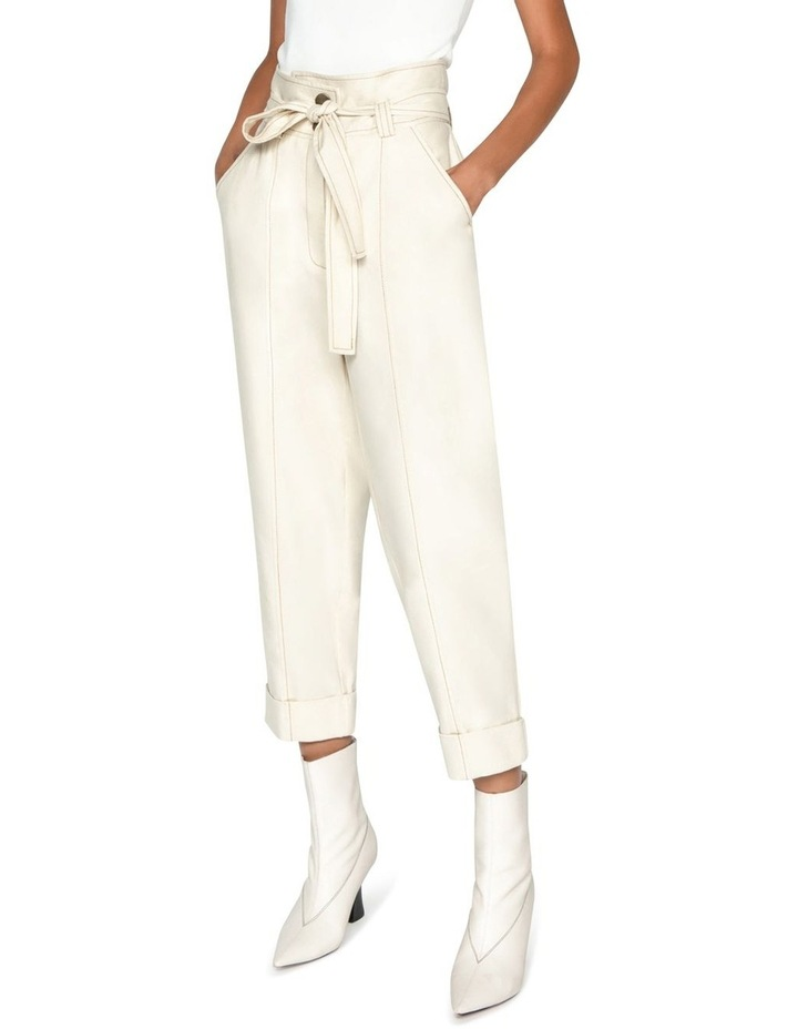 Topstitched Cotton Blend Tapered Pant image 1