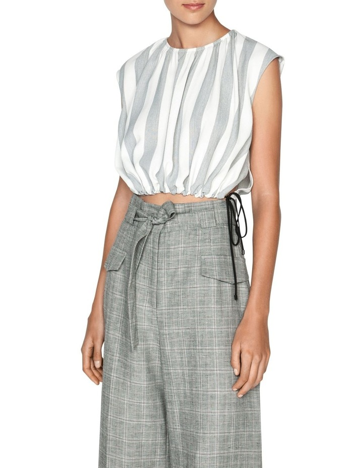 Soft Stripe Ruched Hem Top image 2