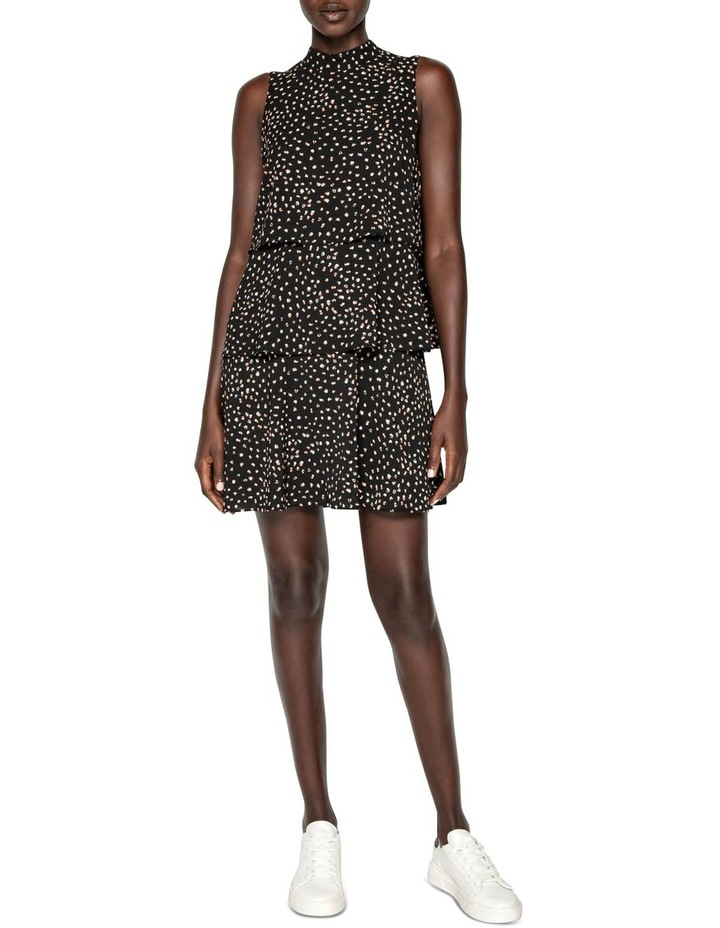 Abstract Spot Tiered Frill Dress image 1