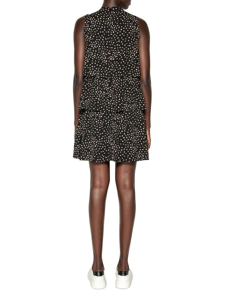 Abstract Spot Tiered Frill Dress image 3