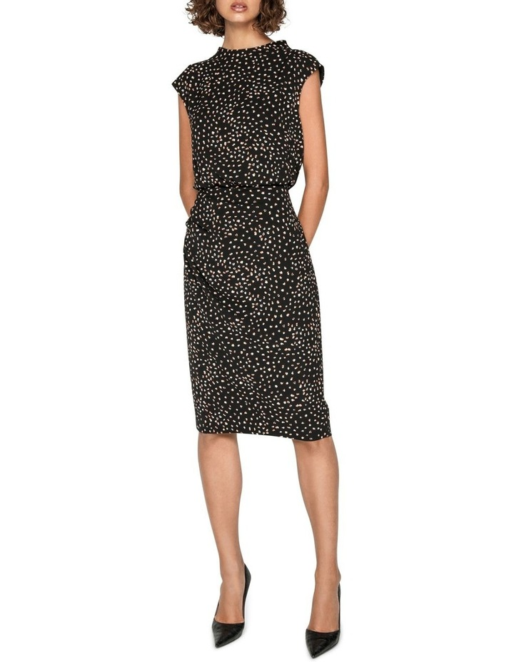 Spot Draped Waist Pencil Dress image 1