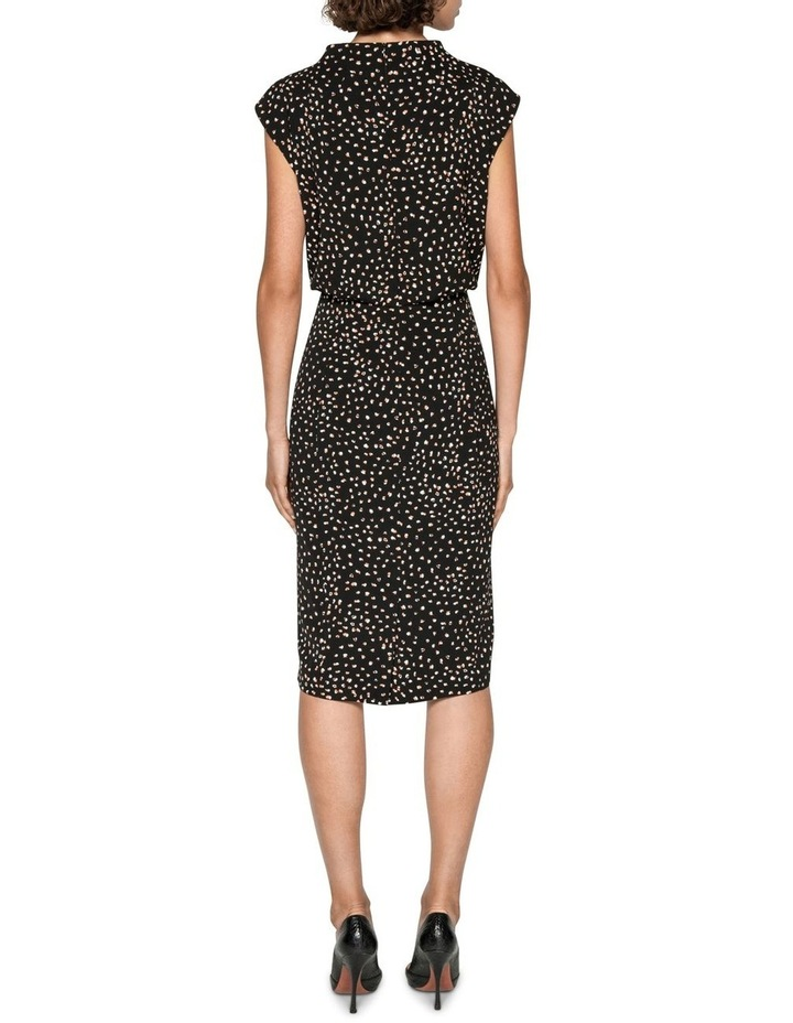 Spot Draped Waist Pencil Dress image 3