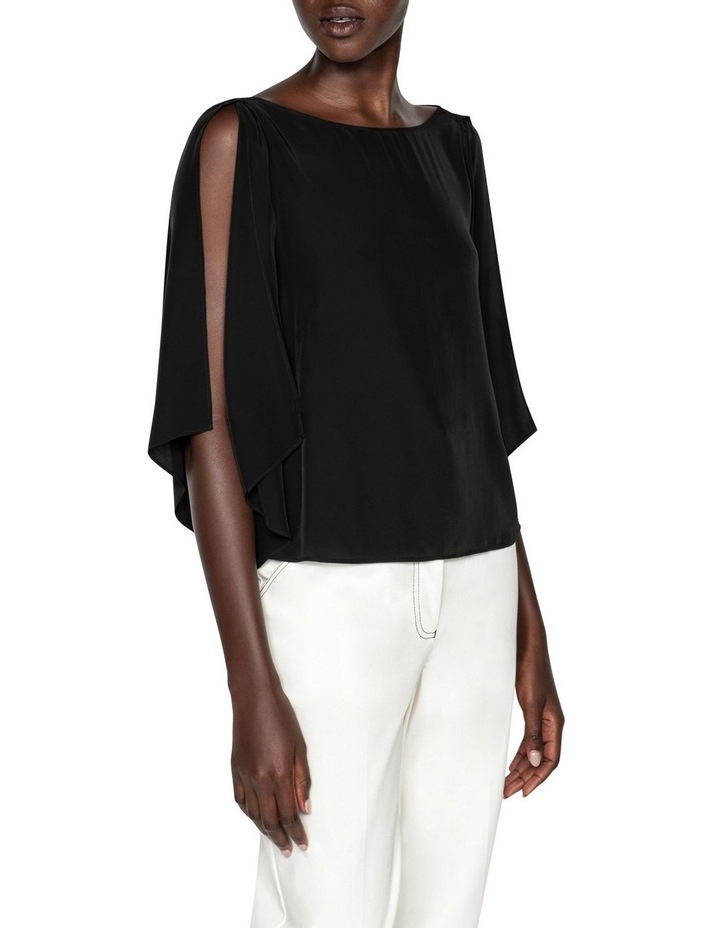 Cape Sleeve Boat Neck Top image 2