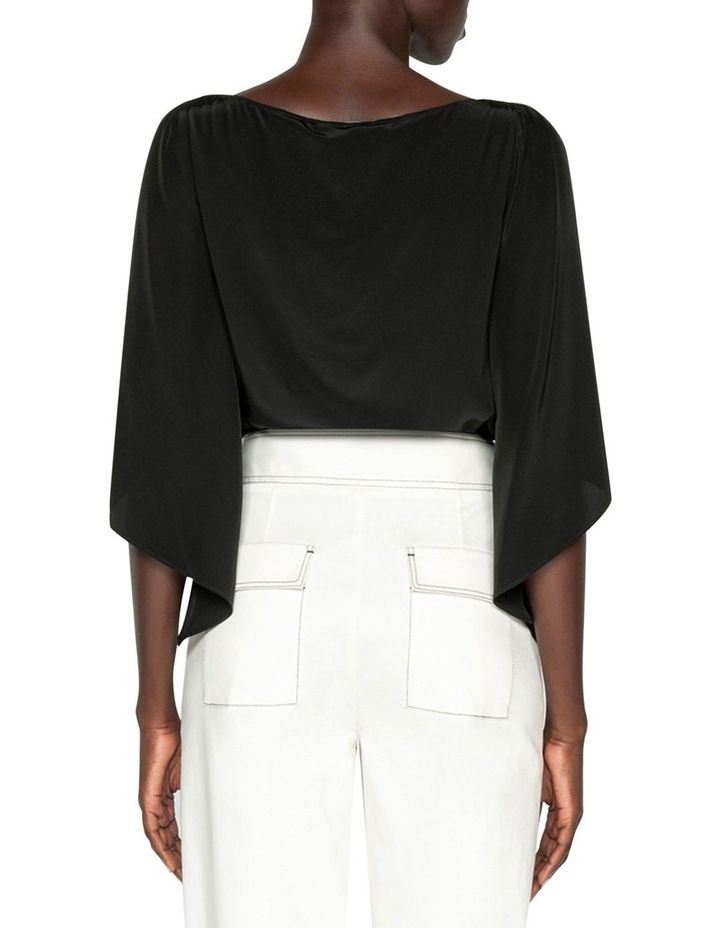 Cape Sleeve Boat Neck Top image 3