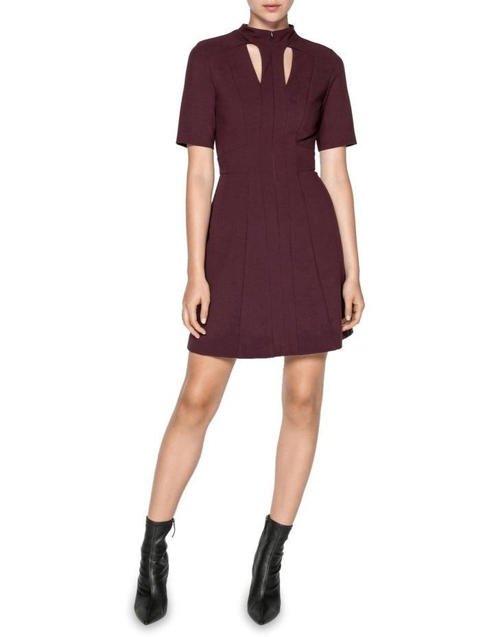 Plum Cut Out Mini Dress image 1