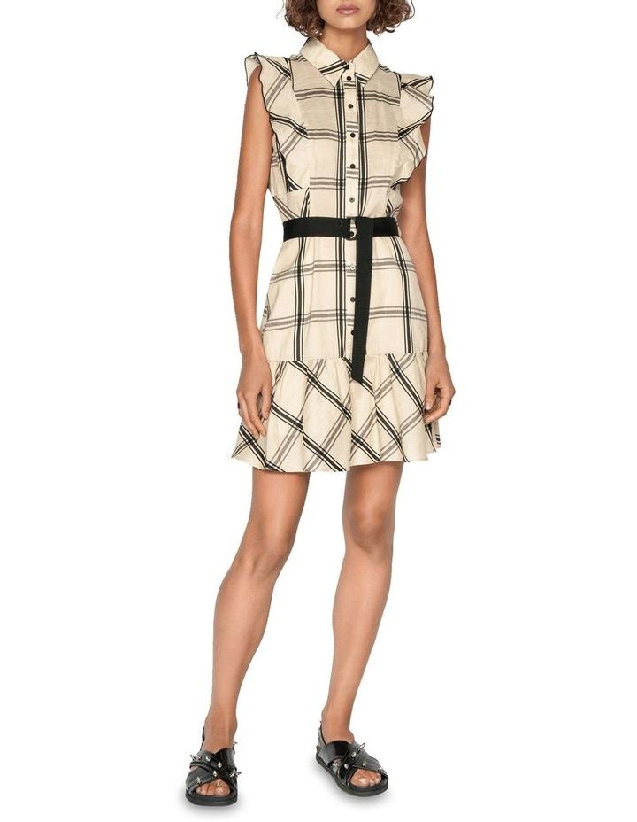 Frilled Sleeve Shirt Dress image 1