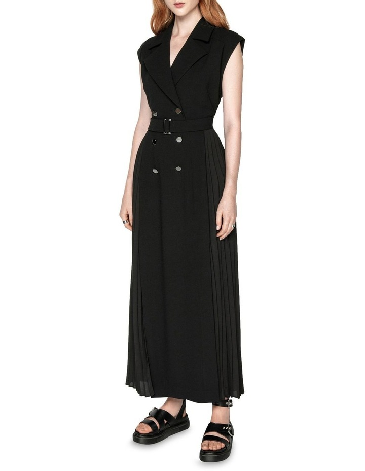 Pleated Maxi Trench Dress image 1