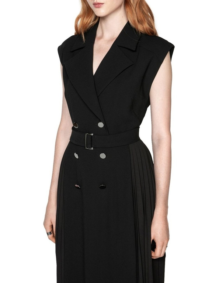 Pleated Maxi Trench Dress image 2