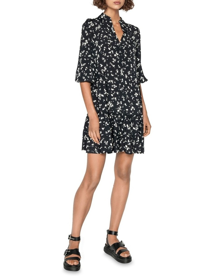 Monochrome Blouson Sleeve Dress image 1