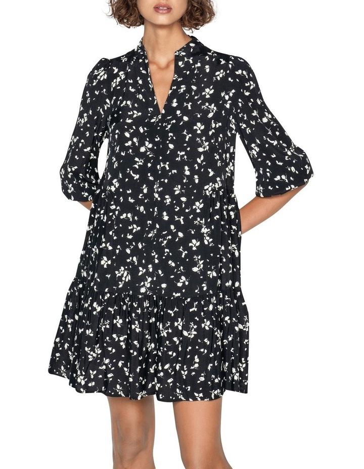 Monochrome Blouson Sleeve Dress image 2