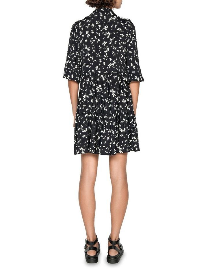 Monochrome Blouson Sleeve Dress image 3