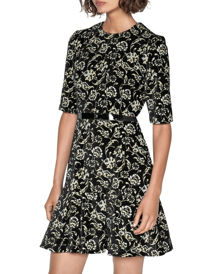 Belted Floral Chenille Dress image 2