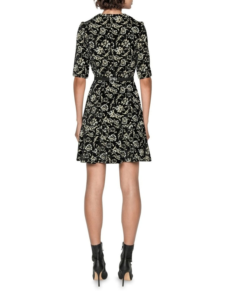 Belted Floral Chenille Dress image 3