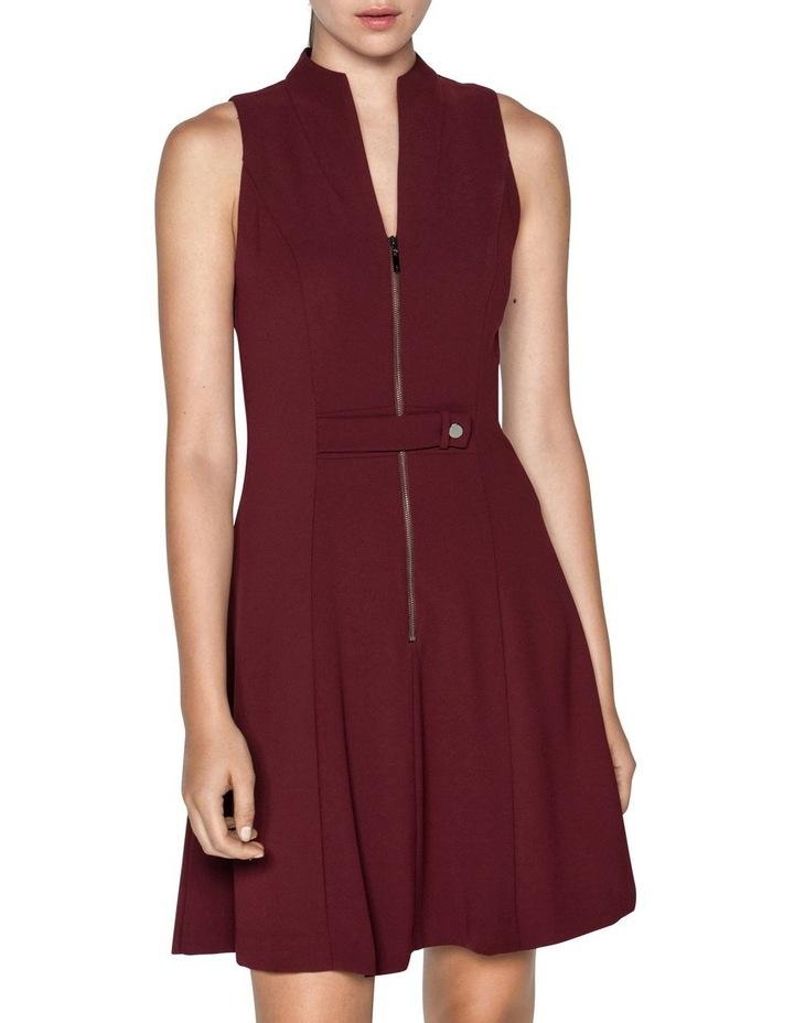Crepe V-Neck Zip Front Dress image 1