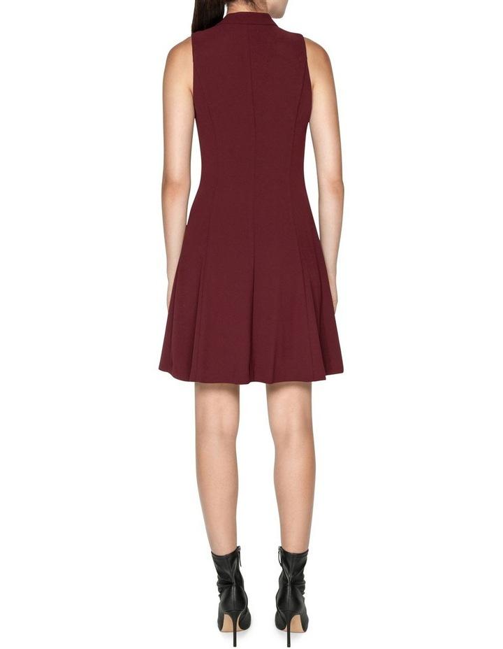 Crepe V-Neck Zip Front Dress image 2
