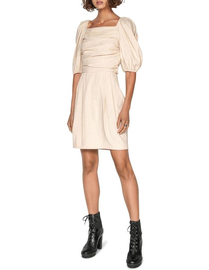 Linen Puff Sleeve Dress image 1