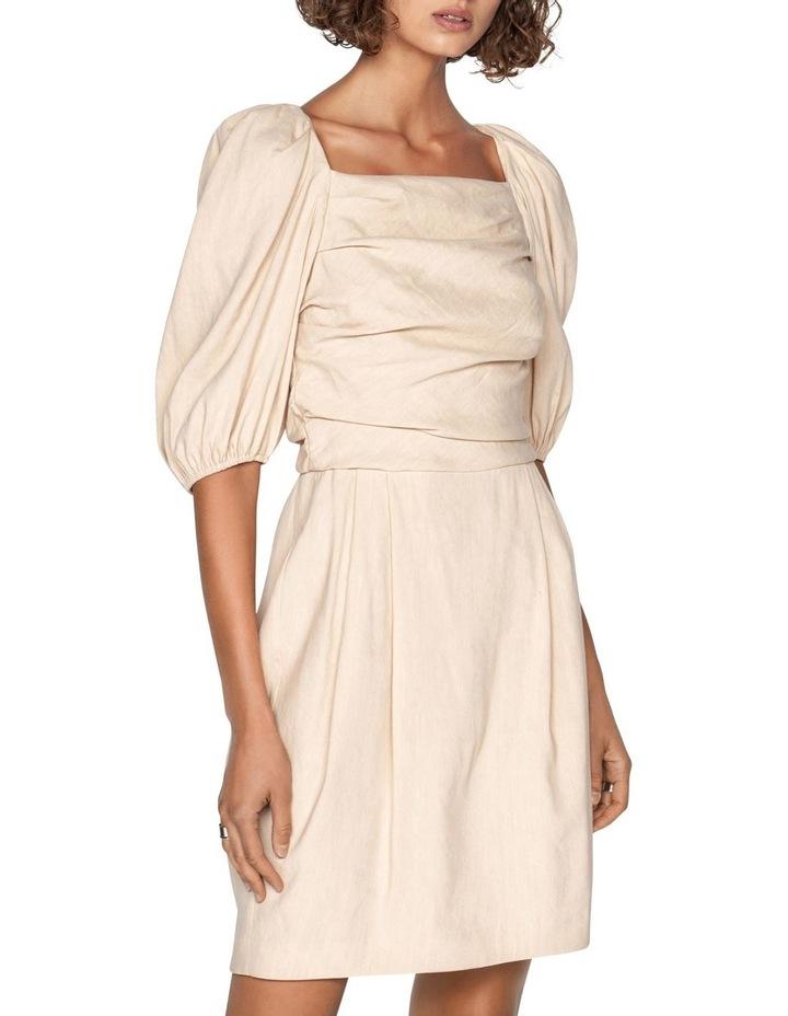 Linen Puff Sleeve Dress image 2