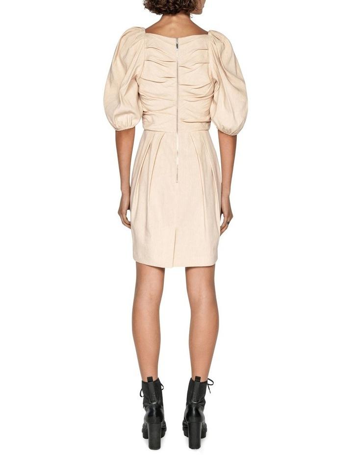 Linen Puff Sleeve Dress image 3
