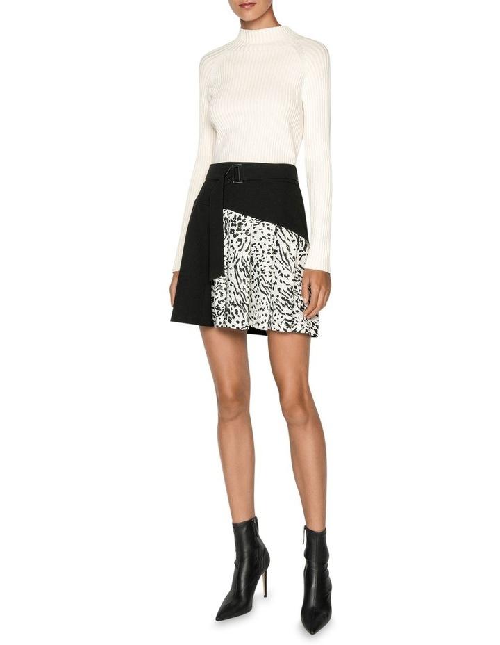 Monochrome Animal Mini Skirt image 1