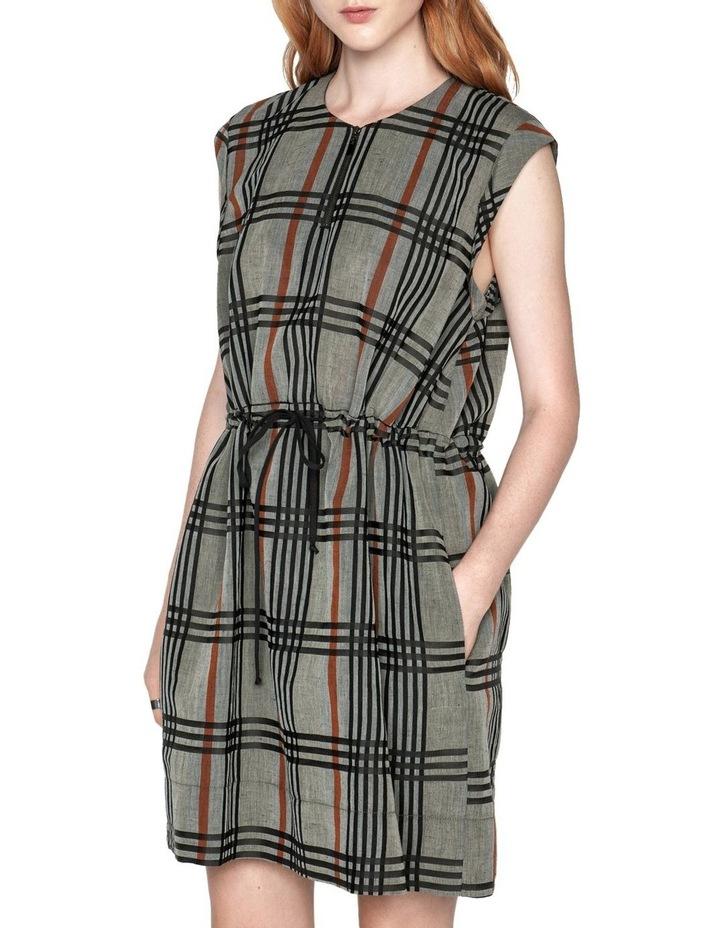 Linen Check Dress image 2