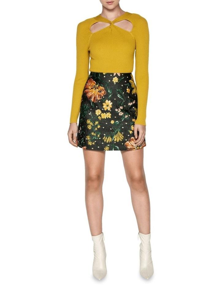 Floral Jacquard Mini Skirt image 1