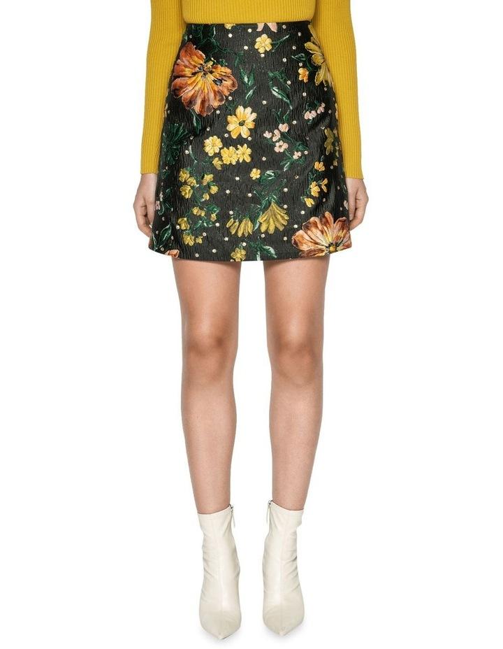 Floral Jacquard Mini Skirt image 2