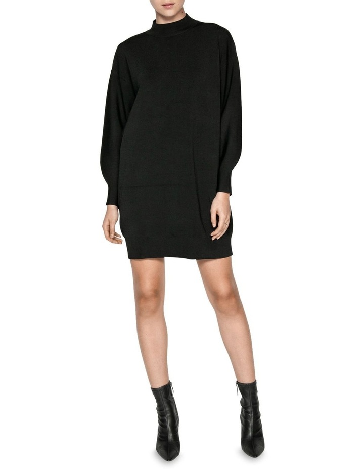 Structured Knit Sweater Dress image 1