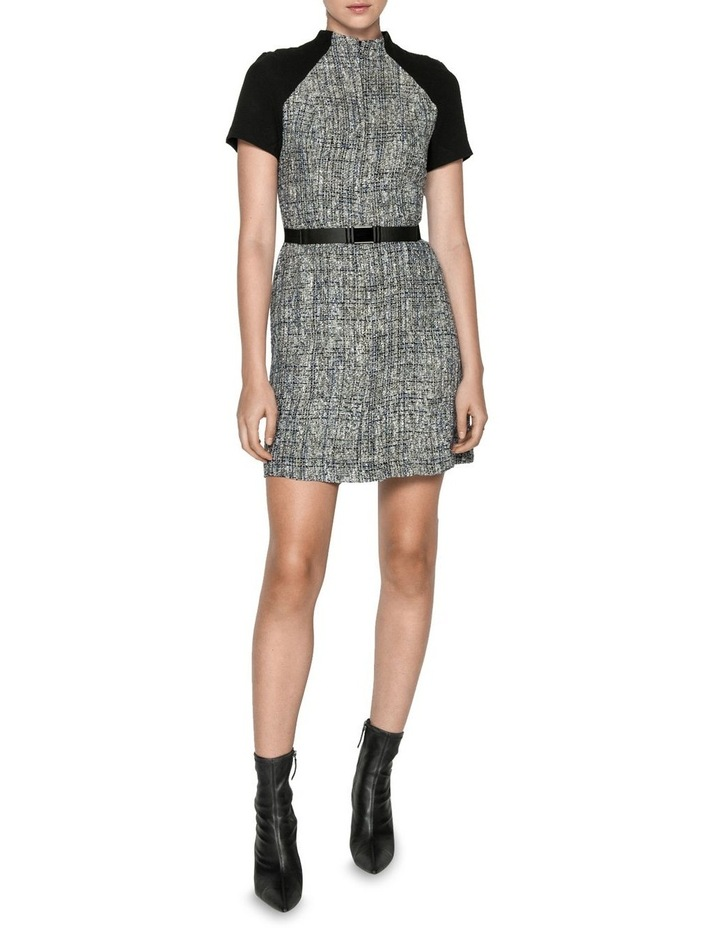 Boucle Tweed Belted Dress image 1